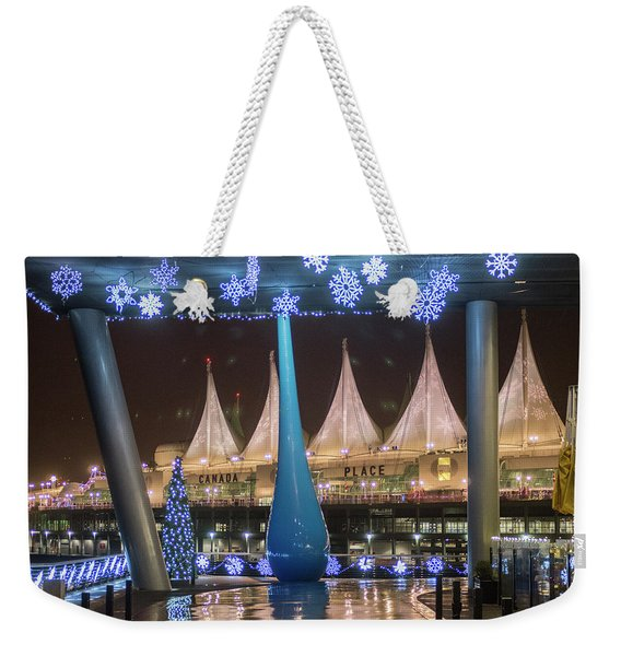 Christmas At Canada Place Weekender Tote Bag