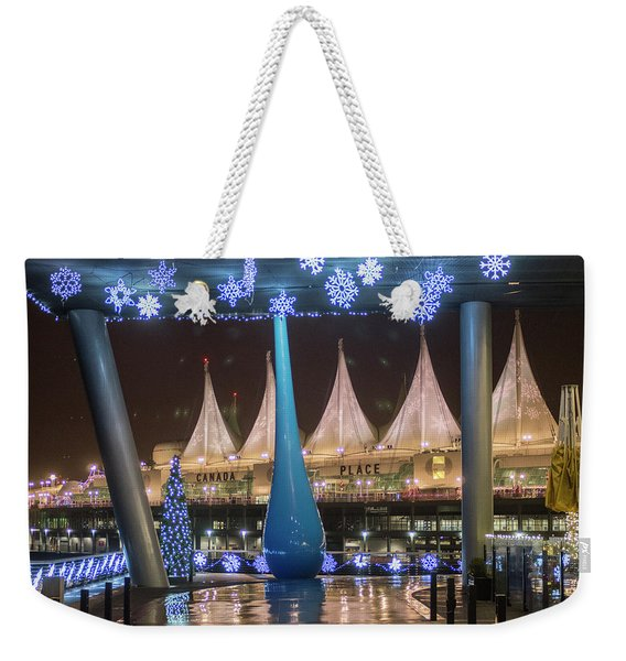 Christmas At Canada Place Weekender Tote Bag