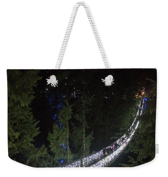 Christmas At Capilano Suspension Bridge Weekender Tote Bag