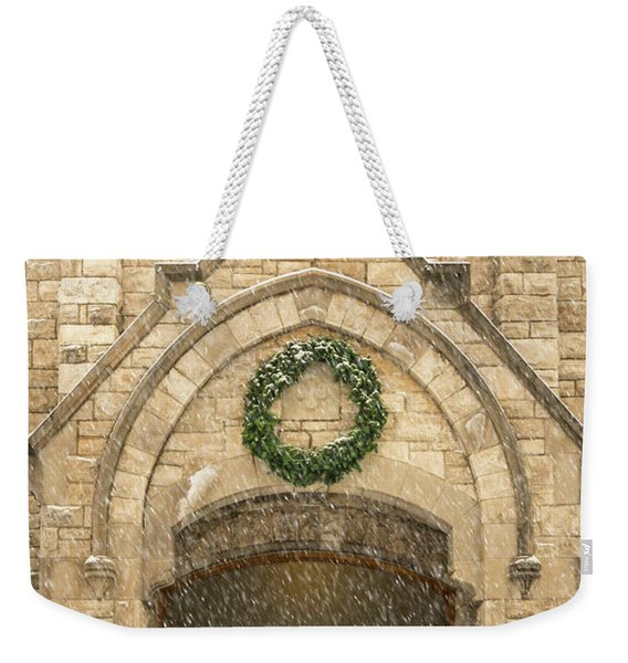 Christmas At Stone Chapel Weekender Tote Bag