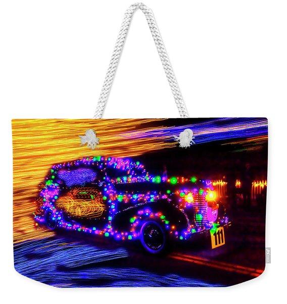 Christmas Car Weekender Tote Bag