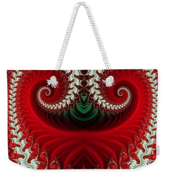 Christmas Swirls Weekender Tote Bag