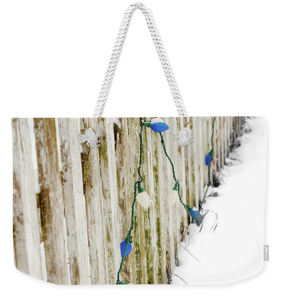 Christmas Fence Weekender Tote Bag