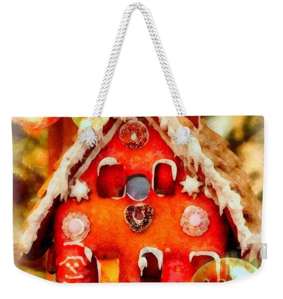 Christmas Gingerbread House Weekender Tote Bag