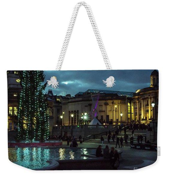 Christmas In Trafalgar Square, London 2 Weekender Tote Bag