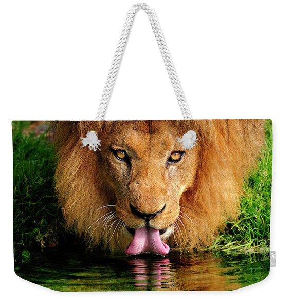 Christmas Lion Weekender Tote Bag