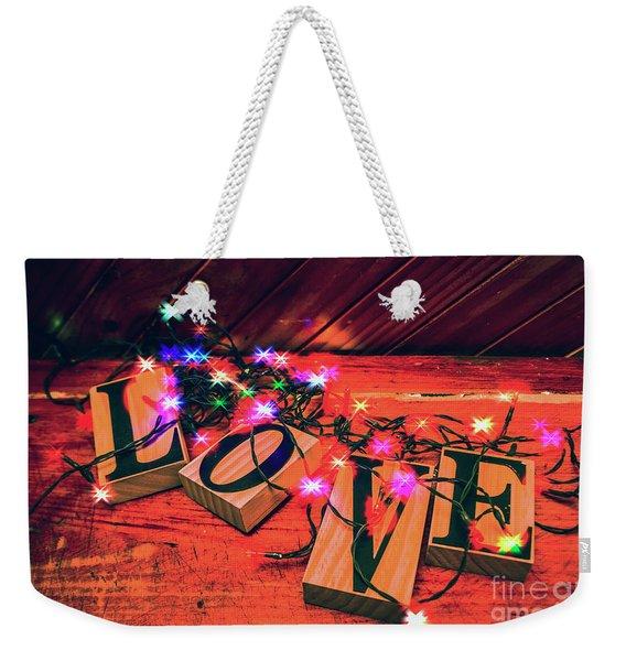 Christmas Love Decoration Weekender Tote Bag