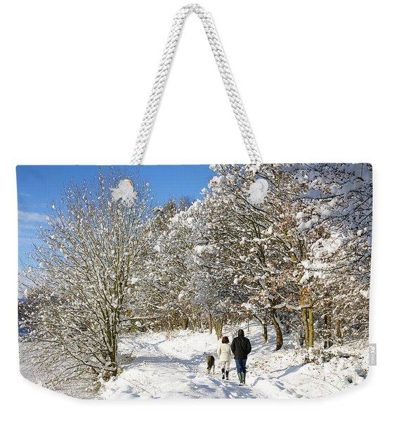 Christmas Morning Walk Weekender Tote Bag