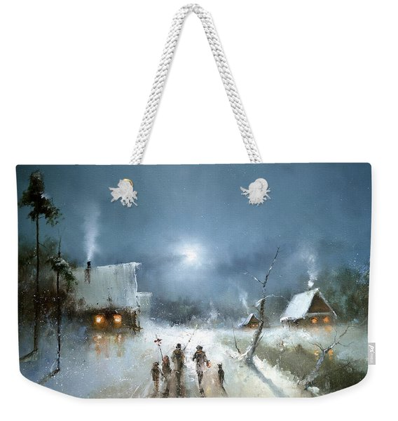 Christmas Night Weekender Tote Bag