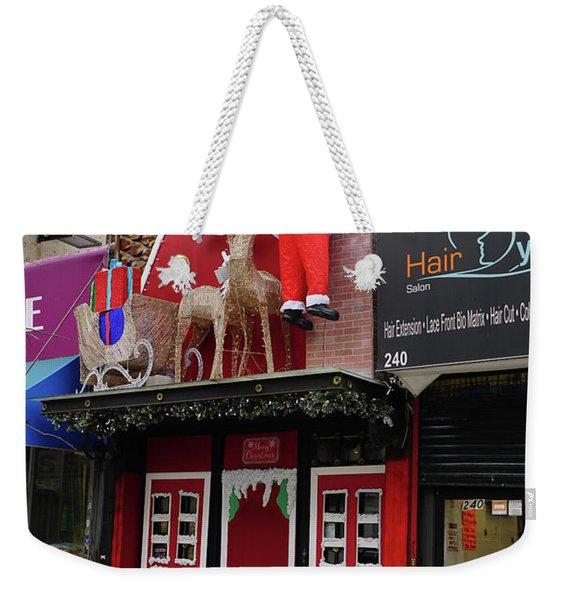Christmas On Sherman Avenue  Weekender Tote Bag