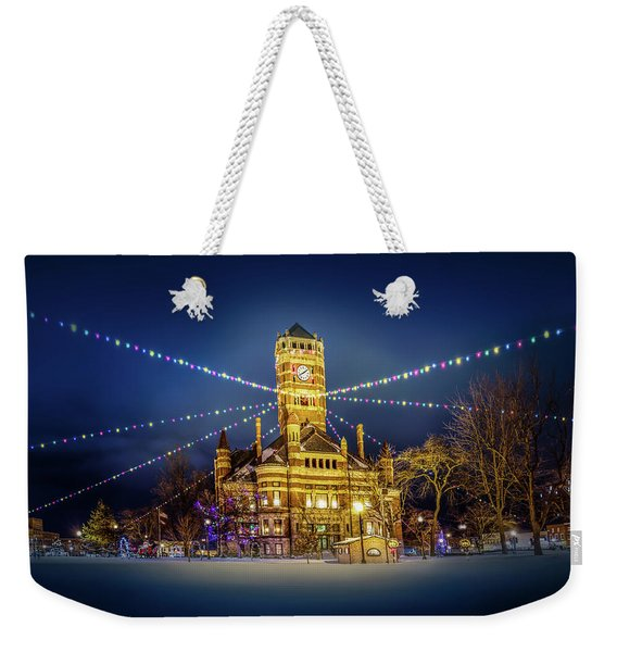 Christmas On The Square 2 Weekender Tote Bag