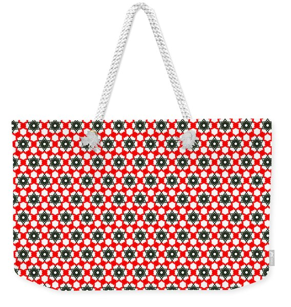 Christmas Paper Pattern Weekender Tote Bag