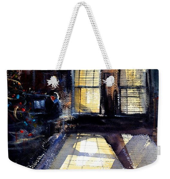 Christmas Pianist Weekender Tote Bag
