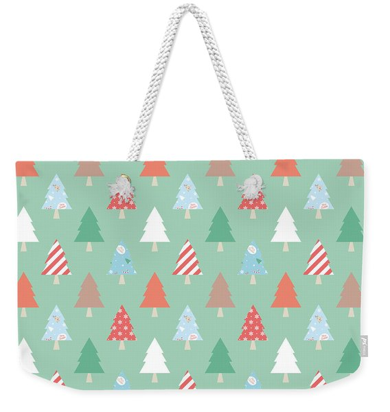 Christmas Pillow Weekender Tote Bag