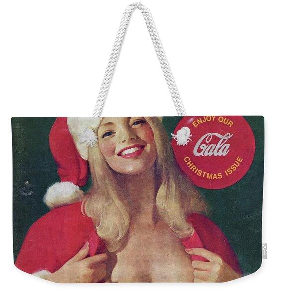 Christmas Playboy Vintage Cover Weekender Tote Bag