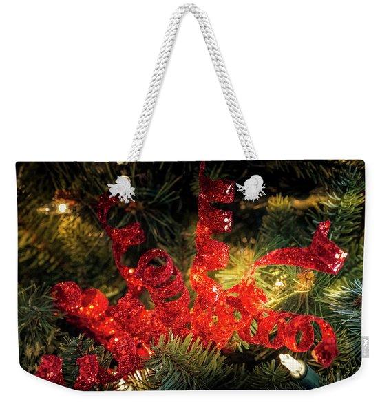 Christmas Red Weekender Tote Bag