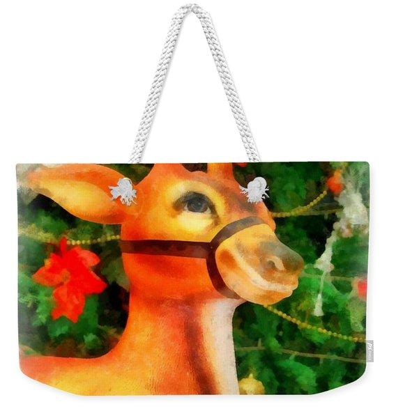 Christmas Reindeer Weekender Tote Bag