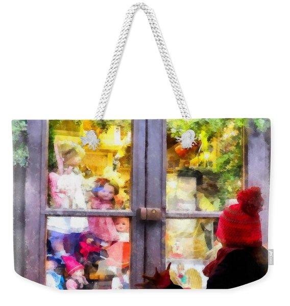 Christmas Shop Window Weekender Tote Bag
