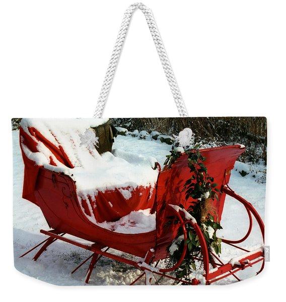 Christmas Sleigh Weekender Tote Bag