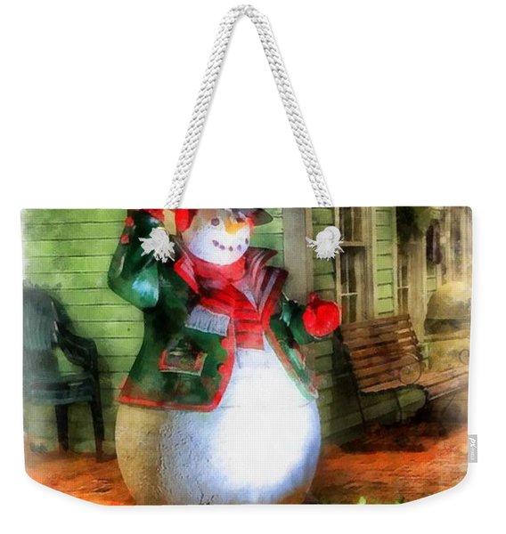 Christmas Snowman Weekender Tote Bag