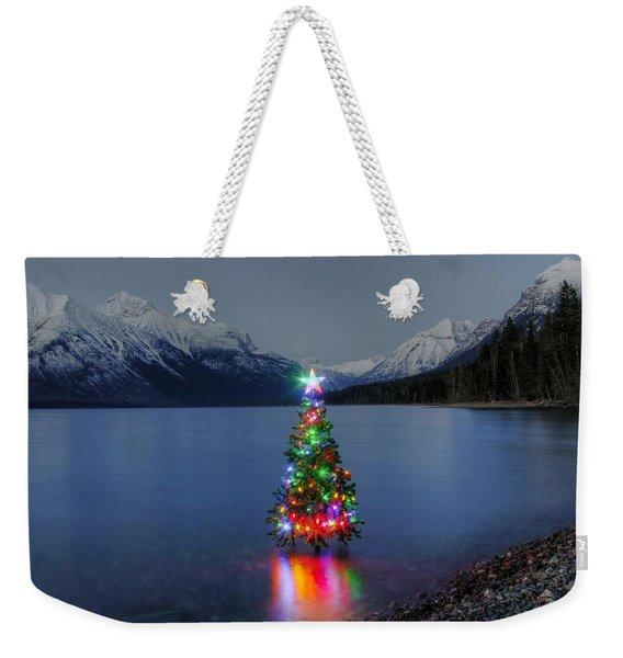 Christmas Spirit In Glacier Park Weekender Tote Bag