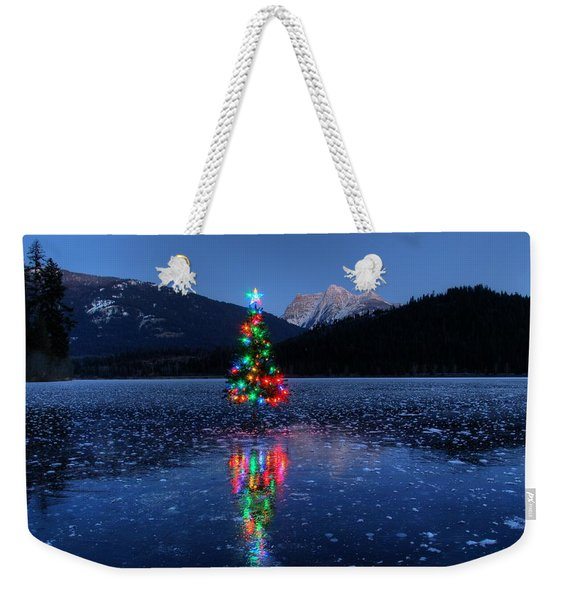 Christmas Spirit On Bull Lake Weekender Tote Bag