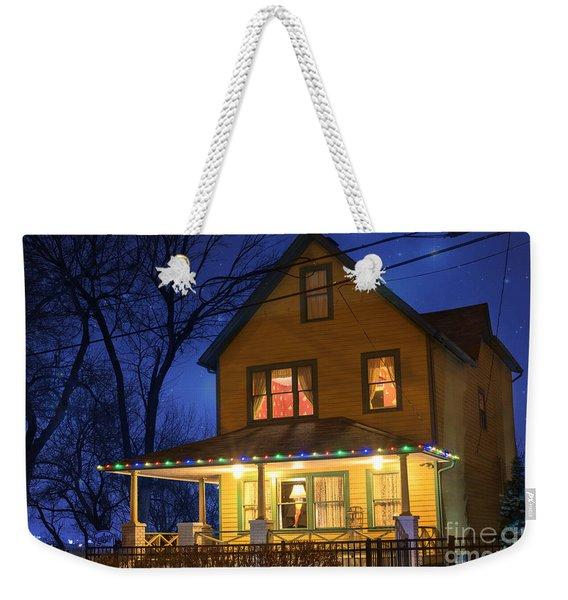 Christmas Story House Weekender Tote Bag