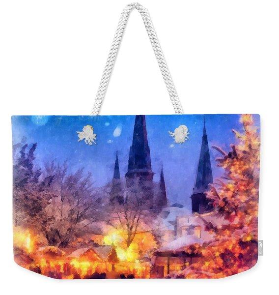 Christmas Town Weekender Tote Bag