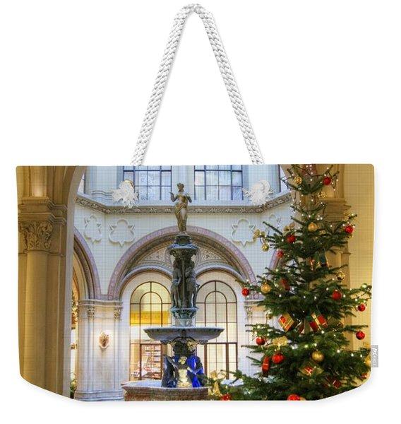 Christmas Tree In Ferstel Passage Vienna Weekender Tote Bag