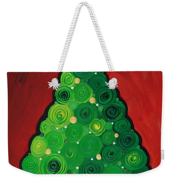 Christmas Tree Twinkle Weekender Tote Bag