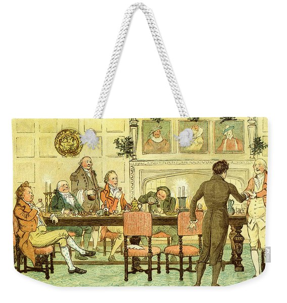 Christmas Welcome From Squire Weekender Tote Bag