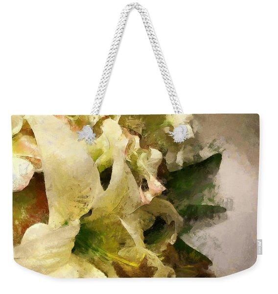 Christmas White Flowers Weekender Tote Bag