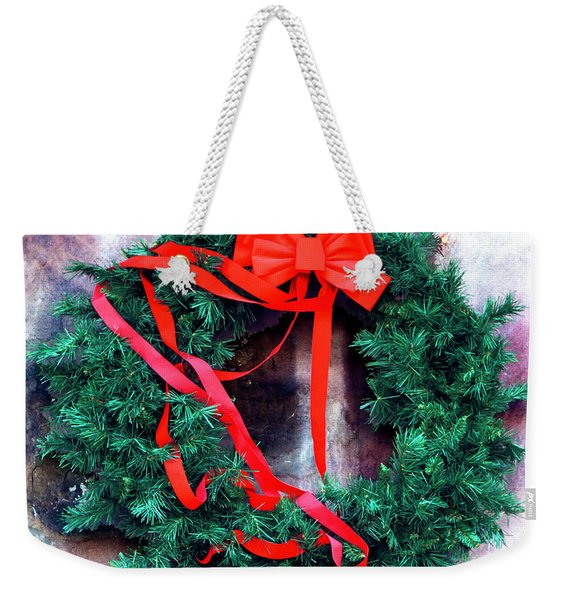 Christmas Wreath In The French Quarter New Orleans Weekender Tote Bag
