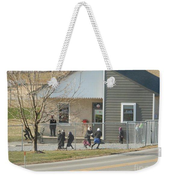 Christmastime At The Schoolhouse Weekender Tote Bag