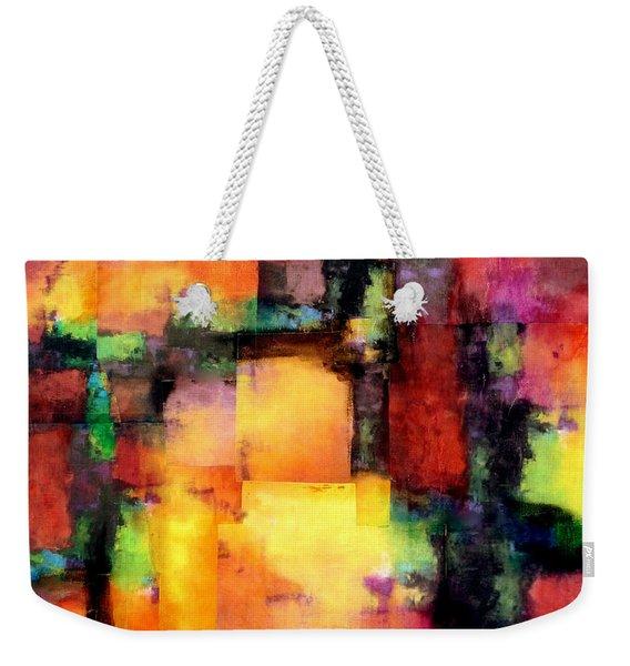 Sunset Exponential Weekender Tote Bag