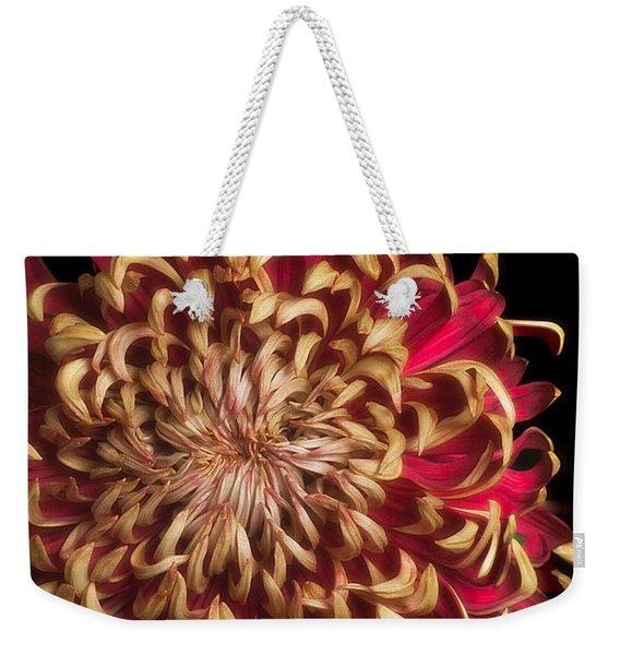 Chrysanthemum  'crimson Tide' Weekender Tote Bag