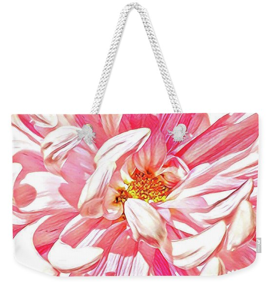 Chrysanthemum In Pink Weekender Tote Bag