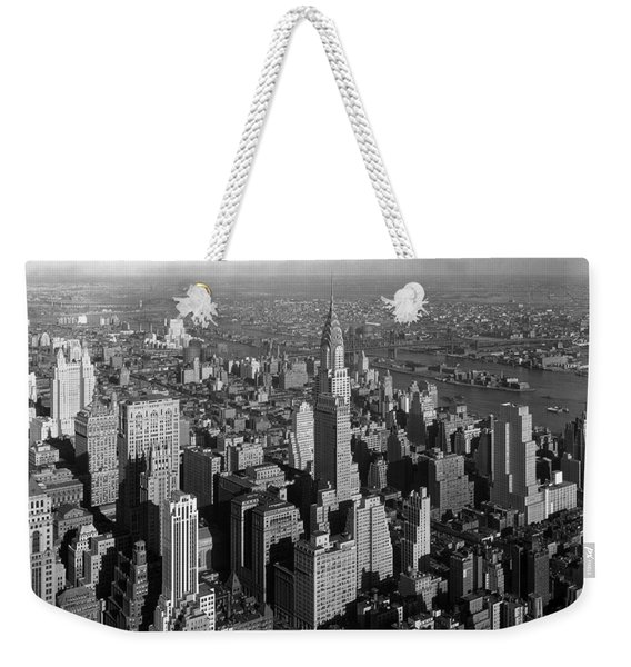 Chrysler Building - Manhattan Skyline - 1932 Weekender Tote Bag