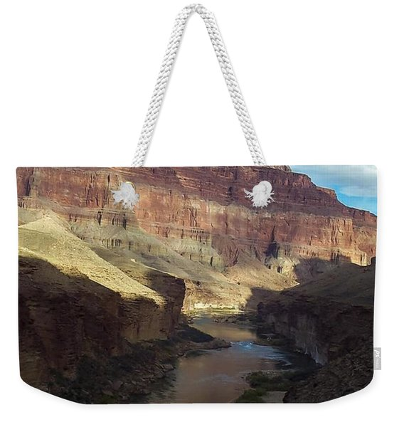Chuar Butte Colorado River Grand Canyon Weekender Tote Bag