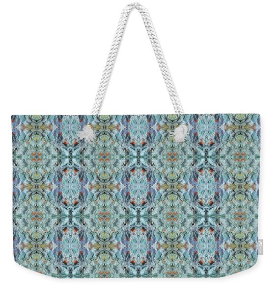 Weekender Tote Bag featuring the mixed media Chuarts Epic 200a by Clark Ulysse