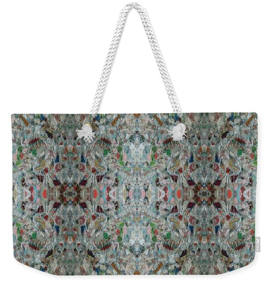 Weekender Tote Bag featuring the mixed media Chuarts Epic 56d by Clark Ulysse