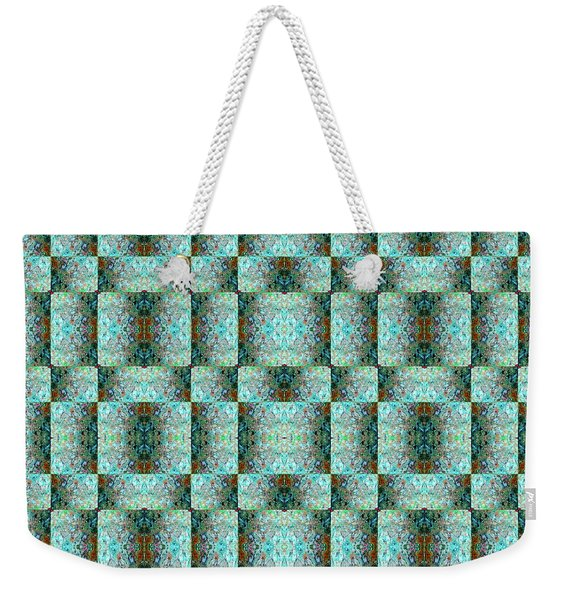 Weekender Tote Bag featuring the mixed media Chuarts Epic Illusion 1b2 by Clark Ulysse