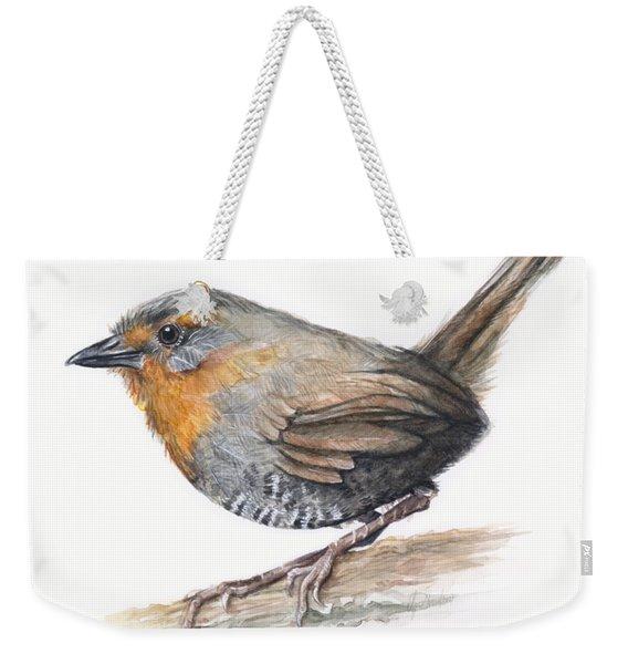 Chucao Tapaculo Watercolor Weekender Tote Bag