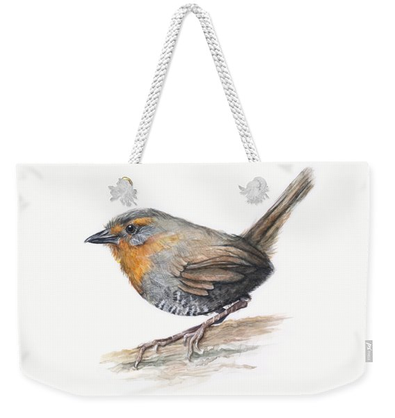 Chucao Tapaculo Watercolor Weekender Tote Bag