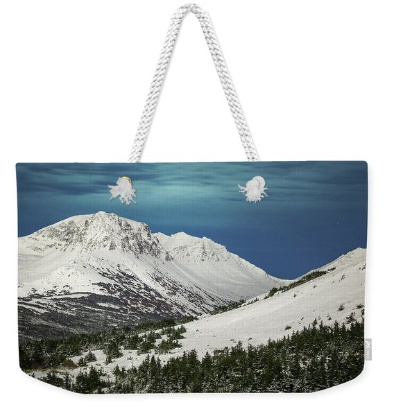 Weekender Tote Bag featuring the photograph Chugach Night by Tim Newton