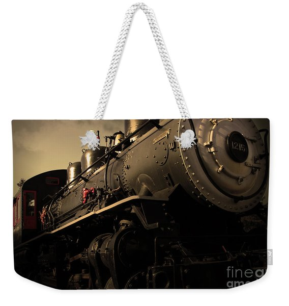 Chugging Across America In The Age Of Steam . Golden Cut . 7d12980 Weekender Tote Bag