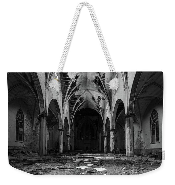 Church In Black And White Weekender Tote Bag