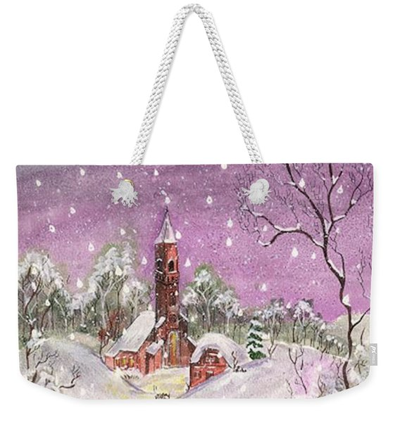 Church In The Snow Weekender Tote Bag