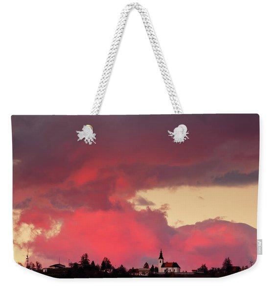 Church Of Saint Nicholas At Sunset Weekender Tote Bag