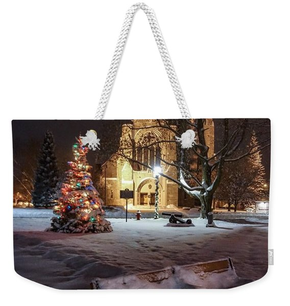 Church Of St Mary St Paul At Christmas Weekender Tote Bag